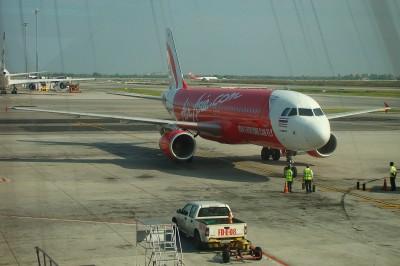 Наш самолет перед посадкой