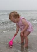 Василиса на пляже